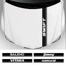 Cubierta de motor de capó de coche, pegatinas de vinilo, para Suzuki Alto Baleno, Grand Vitara, Ignis, Jimny, Samurai Swift SX4
