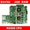 X541SC N3060 מעבד 2GB RAM mainboard REV 2.0 עבור ASUS X541S X541SC מחשב נייד האם 90NB0C10-R00010 משלוח חינם