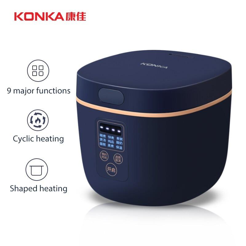 Электрическая мини-рисоварка KONKA, Умная Автоматическая Бытовая кухонная утварь на 1-2 персоны, маленькая электрическая рисоварка