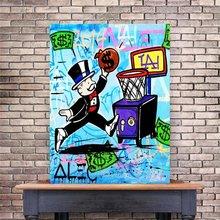 Модульная плакат граффити живопись Современные Холст Алек Монополия