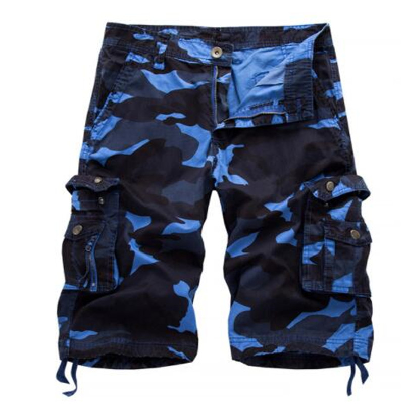 2019 Military Camo Cargo Shorts Summer Fashion Camouflage Multi-Pocket Homme Army Casual Shorts Bermudas Masculina Plus Size 40