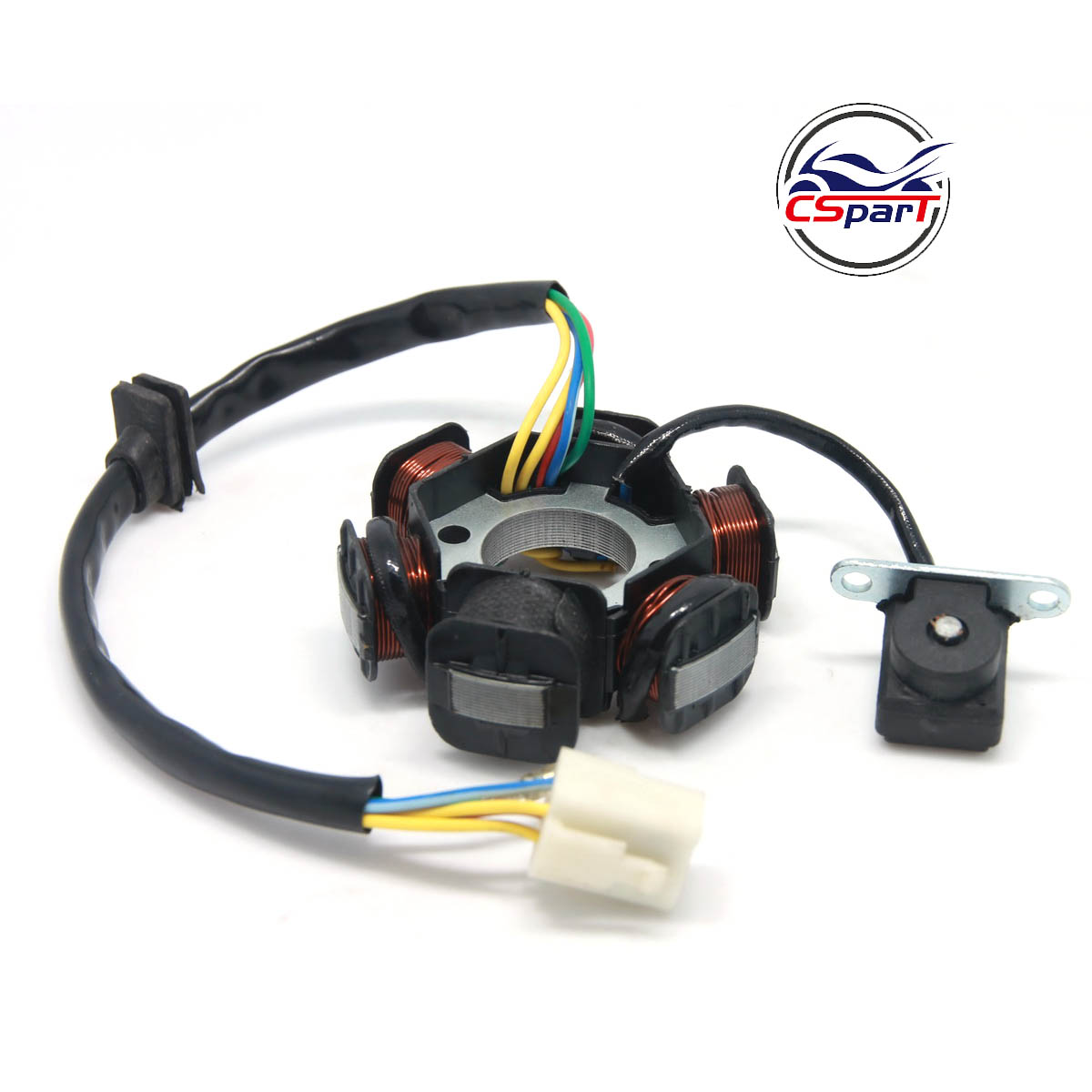 Magneto Stator 6 Pole Coil 5 Wire 50CC 70CC 90CC 110CC 125CC Lifan ZongShen Loncin Xmotos Apollo Dirt Pit Bike ATV Quad Parts
