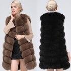 Natural Real Fox Fur...