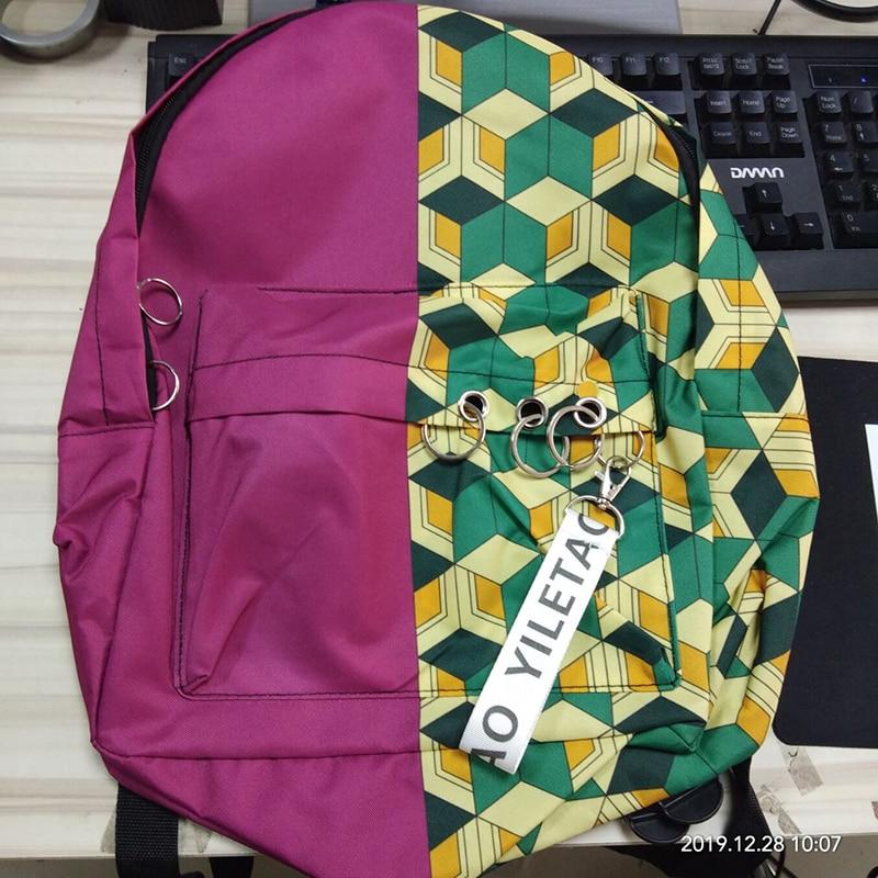 H85d78ee9046b454eae667db63b513de8z - Demon Slayer: Kimetsu no Yaiba Backpack Canvas Bag Kamado Tanjirou School Bags Girl Mochila Feminina Nezuko Notebook Bag Cosplay