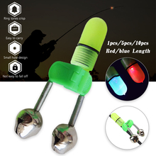1pc/5pcs/10pcs LED Light Fishing Alarm Rod Bite Bells Ring Red Alerter Outdoor Night Electronic Tool