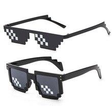 Glasses 8 Bit MLG Pixelated Sunglasses Men Women Brand Thug Life Party Eyeglasses Mosaic Vintage Eyewear