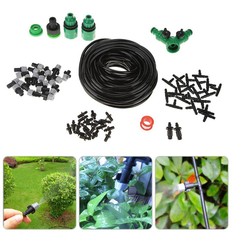 Water Hose DIY Micro Drip Irrigation System Automatic Garden Sprinkler Watering Kit for Lawn Greenhouse Plants Sprinkling Tools|Watering Kits| |  - title=
