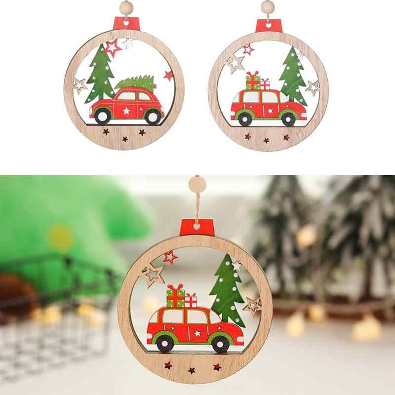 ไม้เครื่องประดับคริสต์มาสรถและต้นคริสต์มาสพรรคลวดลายจี้แขวนเครื่องประดับ Party เครื่องประดับสำหรับเทศกาลคริสต์มาส
