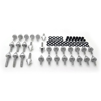 Aftermarket Free Shipping Motorcycle Parts Motorcycle Fairing Bolt Kit Body Screws For 2001 2002 2003 Suzuki GSXR 600 Silver image