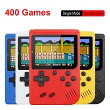 Mini console portátil de videogame retro manual, 8 bits de 3,0 polegadas, lcd colorido para crianças, jogo colorido, consola com 400 jogos incluido