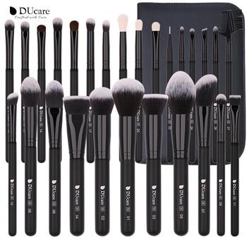 DUcare  Black Makeup brushes set Professional Natural goat hair brushes Foundation Powder Contour Eyeshadow make up brushes