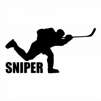 18x9cm Spiner Ice hockey Sportman Boy Stickers athlete Lover Car Stickers Decal Car Rear Windshield Silhouette Stickers CL317 image