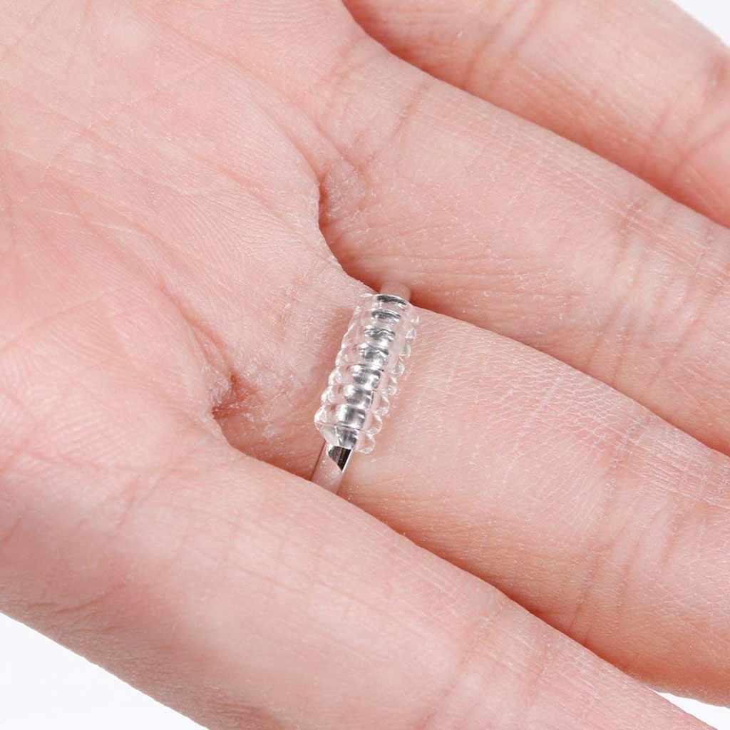 แหวนปรับขนาด 15 ตัวปรับขนาด 3 ขนาดใสแหวน Sizer Resizer Fit สำหรับหลวมแหวนป้องกันความเสียหายโปร่งใสแหวนปรับ