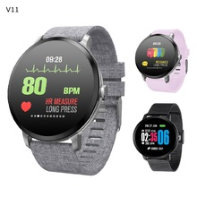 New V11 Smart Watch Men 1.3 Inch Screen Heart Rate Monitor Message Push Sports Wristband Smartwatch for Xiaomi Android IOS Phone