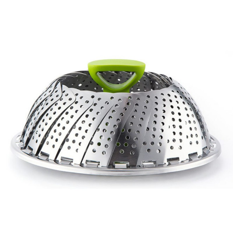 Cookware Folding Dish Steam Stainless Steel Food Steamer Vegetable Cooker Steamer Expandable Kitchen Tool
