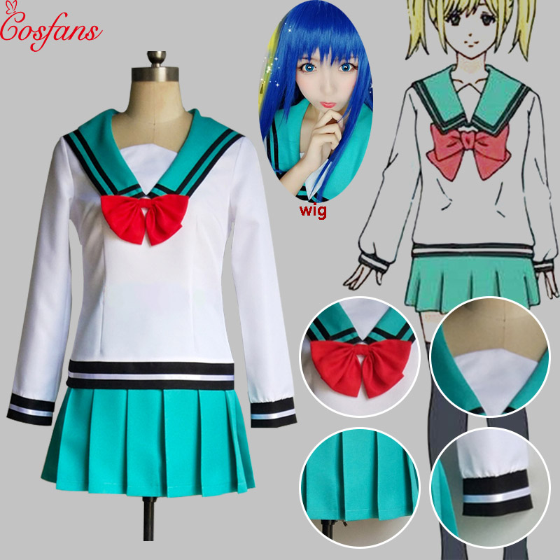 Japan The Disastrous Life Of Saiki K. Women Teruhashi Kokomi Cosplay Dress Saiki Kusuo No Sai-nan Yumehara Chiyo Dress And Wig