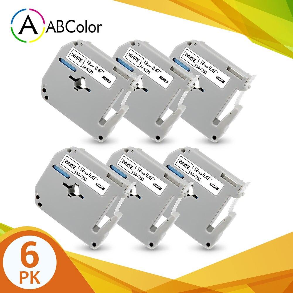 MK M-K Series Label Tape For Brother PT-100 PT-110 PT-45M 9mm 12mm x 8m MK231