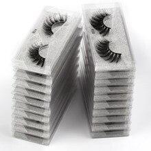 Cílios atacados 20/30/50/100 unidades 3d, cílios vison naturais, cílios postiços a grosso, cílios falsos maquiagem em massa