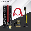 5 шт. TISHRIC 3 в 1 переходная карта PCI-E 009S PCIE PCI E удлинитель USB 3,0 SATA 6pin адаптер кабель майнинга биткоинов Майнер стояк