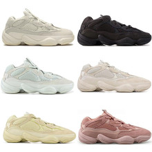 Desert Rat 500 Soft Vision Stone Kanye West Sneakers Running Shoes Bone White Utility Black Salt 3M Men Women Trainer