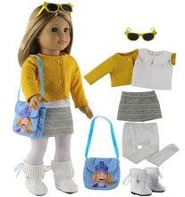"""Moda oyuncak bebek giysileri seti oyuncak giyim kıyafet 18 """"amerikan oyuncak bebek günlük kıyafetler için birçok stil seçim X108"""
