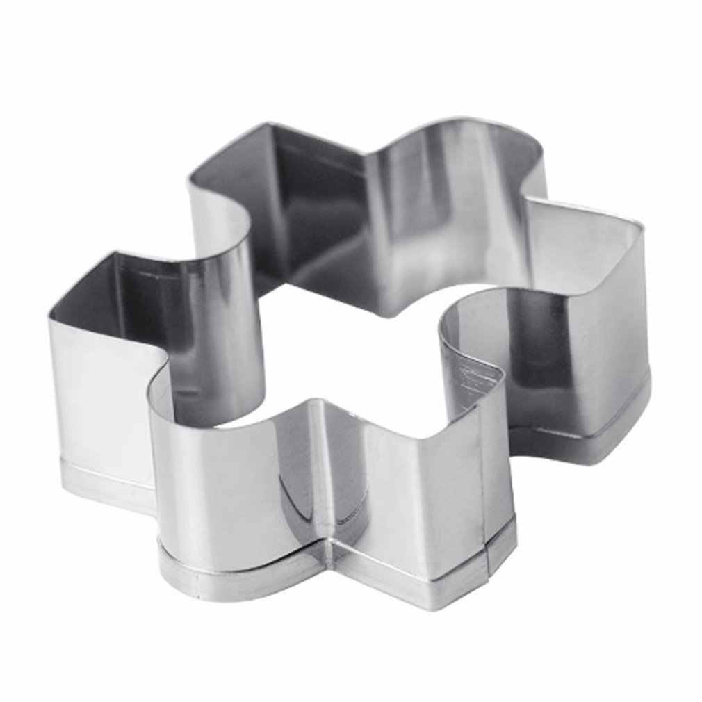 Durable Puzzle Shape Stainless Steel Cookie Cutter DIY Home Kitchen Baking Mould Cookies Biscuit Fondant Cutter Mold