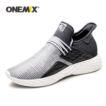 ONEMIX Light Running Shoes Woman Breathable Mesh Sneakers Slip On High Quality Cheap Sport Shoes Women Walking Shoes Big Size 43 merrto women waterproof walking shoes sneakers winter breathable walking shoes for women with inner fleece high quality boost