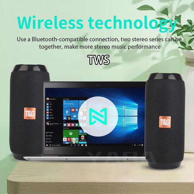 YABA Portable Bluetooth-compatible Speaker boombox Soundbar Subwoofer Outdoor Sports caixa de som Loudspeaker TF Card FM Radio 4