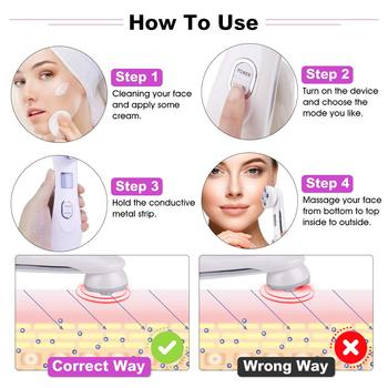 5in1 EMS RF Radio Frequency Machine Mesotherapy Electroporation Face Beauty  LED Photon Face Skin Rejuvenation Remover Wrinkle 5