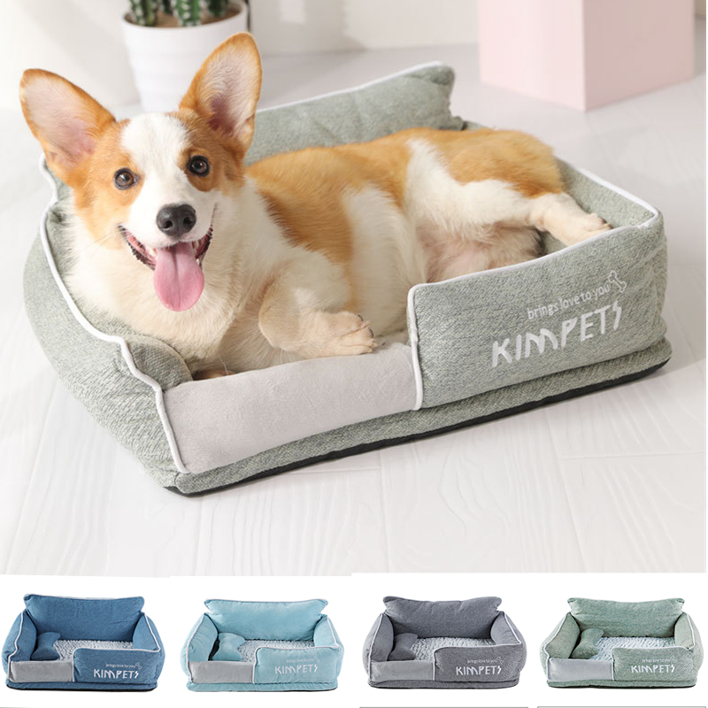 Dog Beds Warm Sleeping Cotton Puppy Bed Detachable Soft Pet Bed for Small  Middle Dogs Machine Washable|Houses, Kennels & Pens| - AliExpress