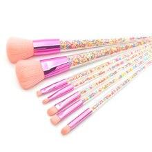 7Pcs Makeup Brushes Sets Diamond Particle Handle Make Up Brush Powder Blush Eyeshadow Women Beauty Glitter Make Up Brush Tools
