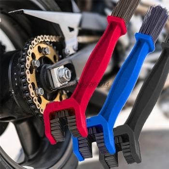 Motocykl łańcucha szczotka do czyszczenia pokrowce na crf1000l afryka twin mt-09 honda x adv cbf 1000 honda cb125r kymco xciting ktm tanie i dobre opinie AutoJZWT 3 2cm 25 5cm Uniwersalny ABB001 Nylon ABS Plactics Motorcycle Chain brush Black Blue Red all the time 100 Brand New