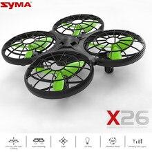 X26 Syma Rc Helicóptero Mini Rc Zangão Infravermelho Obstacle Avoidance Sensorial Brinquedos Aviões de Controle Remoto Brinquedos para Crianças Toy Kids