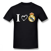 I Love Real Madrid t shirt men Casual Fashion Mens Basic Short Sleeve T-Shirt boy girl hip hop t-shirt top tees