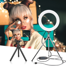 6 אינץ/16cm Stepless Dimmable LED איפור Selfie טבעת אור עבור Youtube וידאו אור תמונה סטודיו לחיות יופי אור