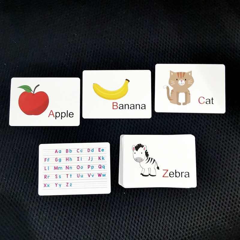 Kinderen Baby Engels Leren Alfabet Woord Kaart Pocket Flash Leren Educatief Cognitieve Geheugen Speelgoed Tafel Game Card