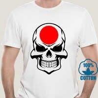 Camiseta con estampado de calavera japonesa para hombre, camisa japonesa informal con estampado de calavera japonesa 6012A