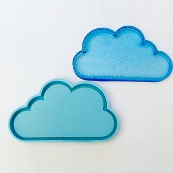 1 Pc chmura żywica Coaster formy chmura silikonowe formy DIY Handmade epoksydowa dekoracja żywiczna foremka chmura kształt żywica formy narzędzia tanie i dobre opinie bulusii CN (pochodzenie) Cloud Silicone Mold Foremki QX2F11JJ100314 Blue