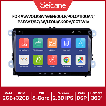 Seicane Android 9.0 9inch Car Multimedia Player 2 din GPS car Radio For Skoda/Seat/Volkswagen/VW/Passat b7/POLO/GOLF 5 6 image
