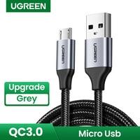 UGREEN Micro Cavo USB 3A Nylon Veloce Carica USB Cavo Dati per Samsung Xiaomi LG Tablet Android Del Telefono Mobile USB cavo di ricarica