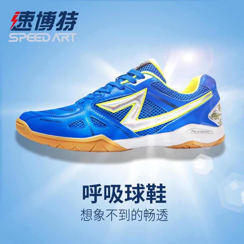 ตารางเทนนิสรองเท้า Breathable ผู้ชายผู้หญิงกีฬารองเท้า Antiskid Shock Absorption กีฬาในร่มรองเท้าผ้าใบ ST28006