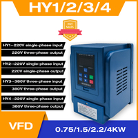 Water Pump Constant Pressure Motor Supply Special Frequency Converter 0.75 1.5 2.2Kw Universal Single or Three Phases