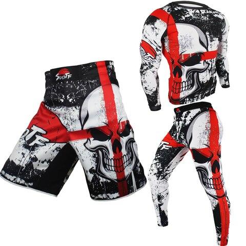 Jitsu + Tiger Bjj para Boxe Calças Boxe Muay Thai Roupas Fitness om Jiu