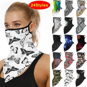 Men And Women Printed Casual Face Cover Neck Scarf Breathable For Sport Outdoor Riding Cycling Headscarf Unisex Accessories