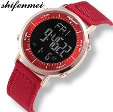 Shifenmei Watches Men Waterproof Sports Casual Watch Men Wristwatches Digital LED Clock Men relogio feminino 1144 shifenmei 1091 casual zinc alloy case pu band digital led wrist watch yellow silver