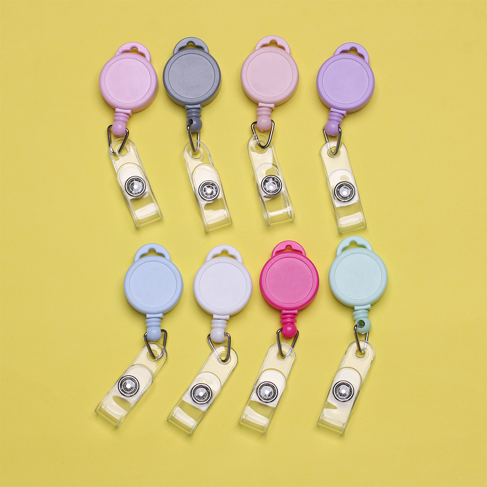 Retractable Anti-Lost Clip Nurse ID Name Card Key Ring Badge Holder Lanyards