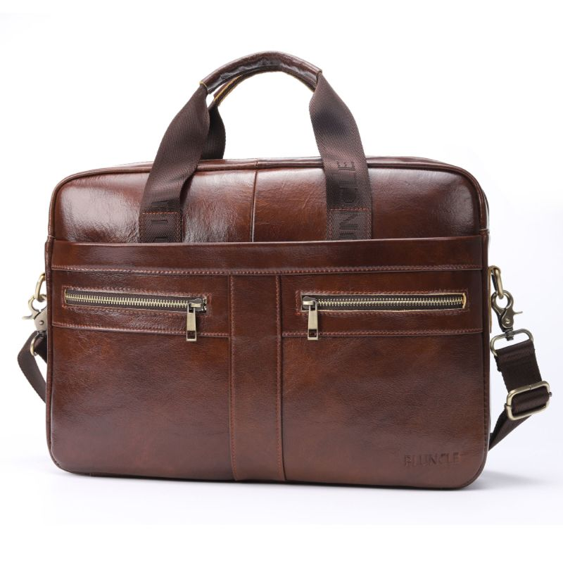 Men Vintage Shoulder Messenger Leather Business Briefcase Crossbody Bags U50C