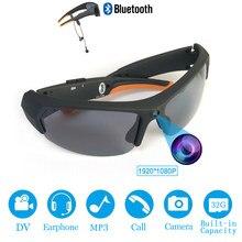 2020 hd 1080p 32gb lente polarizada mini óculos de sol câmera multifuncional bluetooth mp3 player esportes dv gravador vídeo