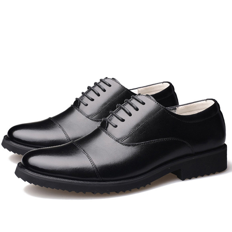 New Fashion Oxford Business Men Shoes Genuine Leather High Quality Soft Casual Breathable Men's Flats Zip Shoes