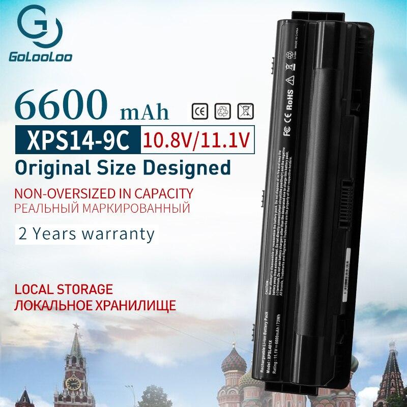 9 Cells 6600 MAh J70W7 R795X WHXY3 Battery For Dell XPS 14 15 17 L401X L501X L502X L701X L521X 3D L702X 312-1123 312-1127 JWPHF